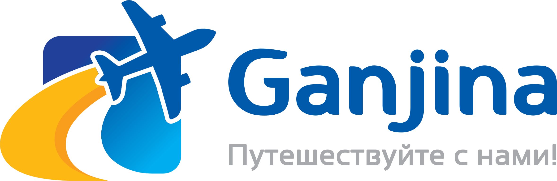 Logo with text blue